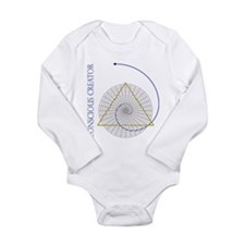sacred geometry fibonacci Long Sleeve Infant Bodys