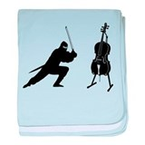 Cello Ninja baby blanket