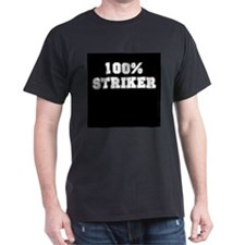 100% Striker Black T-Shirt