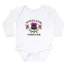 Scotland Forever Thist Long Sleeve Infant Bodysuit