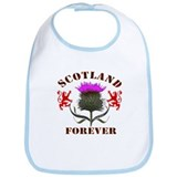 Scotland Forever Red - Thistle Design Bib