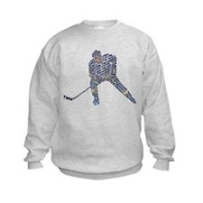Hockey Player Typography Sweatshirt
