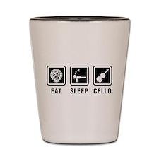 Eat Sleep Cello Shot Glass