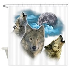 Wolves Moon Shower Curtain