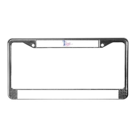 Sexy Music License Plate Frame
