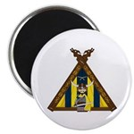 "Cute Viking Warrior at Tent 2.25"" Magnet (10"
