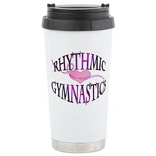 I Heart Rhythmic Gymnastics Ceramic Travel Mug