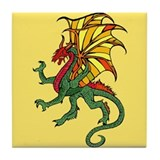 Chinese Flying Dragon Tile Coaster