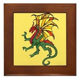 Chinese Flying Dragon Framed Tile