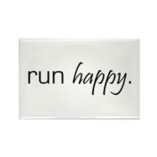 Run Happy Rectangle Magnet