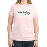 Run Happy Women's Pink T-Shirt