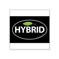 Hybrid Auto Bumper Oval Sticker -Black with Leaf S