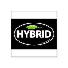 Hybrid Auto Bumper Oval Sticker -Black with Leaf S