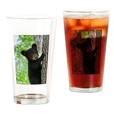 Curious Bear Drinking Glass