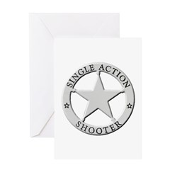 Single Action Shooter Greeting Card