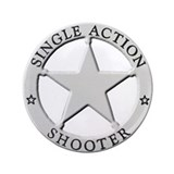"Single Action Shooter 3.5"" Button"