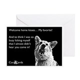 Corgi Welcome Home Greeting Card