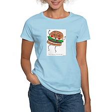 Happy Hamburger Women's Pink T-Shirt