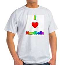 I love handbells Ash Grey T-Shirt