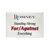 Romney: For/Against Everything Rectangle Magnet