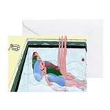Synchronized Swimming Greeting Card