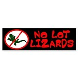 No Lot Lizards Bumper Bumper Stickers