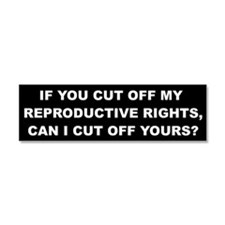 Reproductive Rights Car Magnet 10 x 3