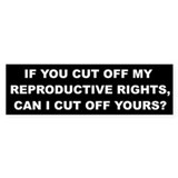 Reproductive Rights Car Sticker