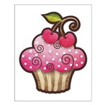 Cherry Berry Cupcake Small Poster