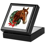 Christmas Holiday Horse Keepsake Box