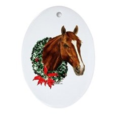 Horse and Wreath Ornament (Oval)