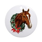 Christmas Holiday Horse Ornament (Round)