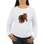 Horse and Wreath Women's Long Sleeve T-Shirt