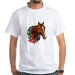 Horse and Wreath White T-Shirt
