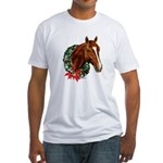 Horse and Wreath Fitted T-Shirt