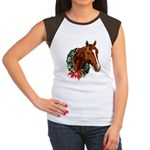 Horse and Wreath Women's Cap Sleeve T-Shirt