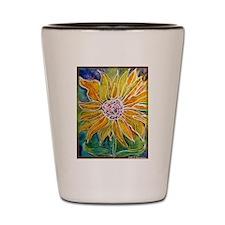 Sunflower! Bright, flower art! Shot Glass