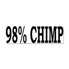 98% Chimp Car Magnet 10 x 3