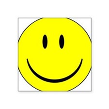 "big smiley face Square Sticker 3"" x 3"""