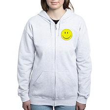 big smiley face Zip Hoodie