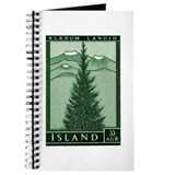 1957 Iceland Spruce with Volcanoes Stamp Journal