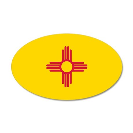 New Mexico flag 35x21 Oval Wall Decal