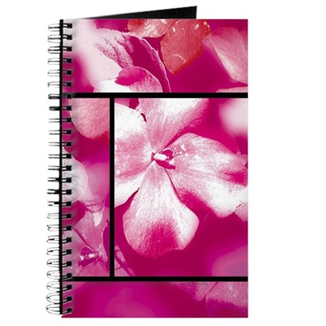Magenta Flowers Blank Journal