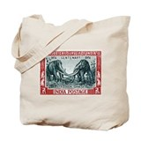 1951 India Stegodon Elehpant Stamp Tote Bag
