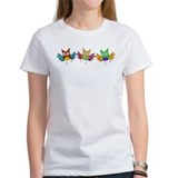 Three Cute Happy Dancing Owls Tee