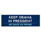 Keep Obama in President Bumper Sticker