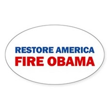 Restore America Fire Obama Decal