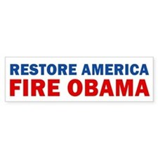 Restore America Fire Obama Bumper Sticker