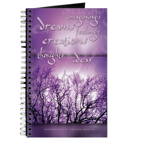 Visions in Purple Blank Journal