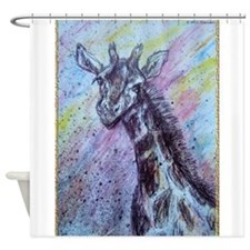 Giraffe! Colorful wildlife art! Shower Curtain